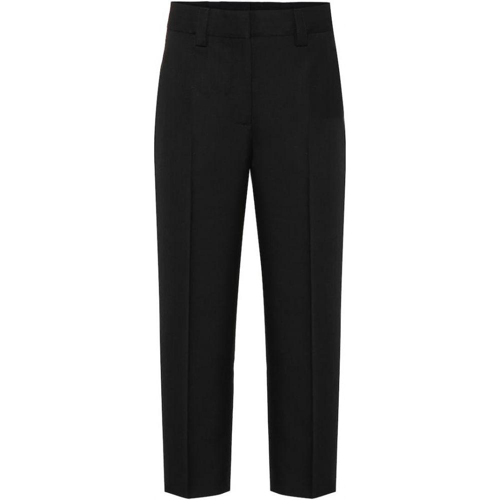 アクネ ストゥディオズ Acne Studios レディース ボトムス・パンツ 【Wool-blend twill straight pants】Black