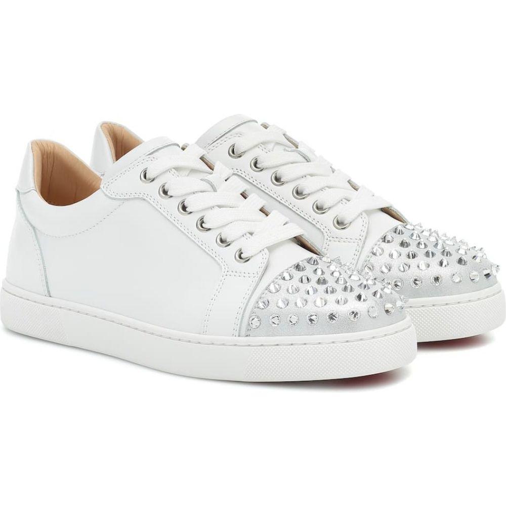 クリスチャン ルブタン Christian Louboutin レディース スニーカー シューズ・靴【Vieira Spikes Krystal sneakers】Silver/White