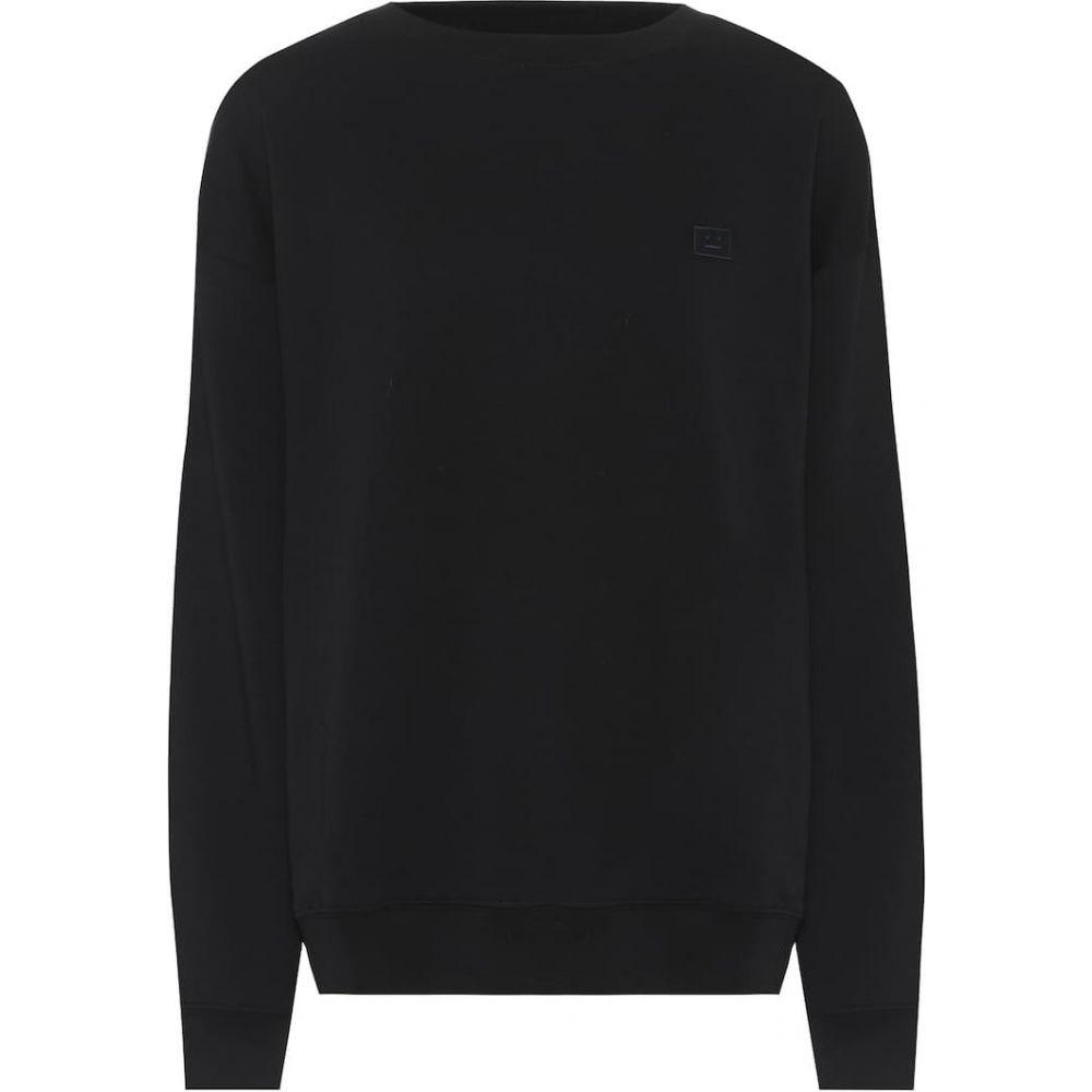 アクネ ストゥディオズ Acne Studios レディース スウェット・トレーナー トップス【Face cotton sweatshirt】Black