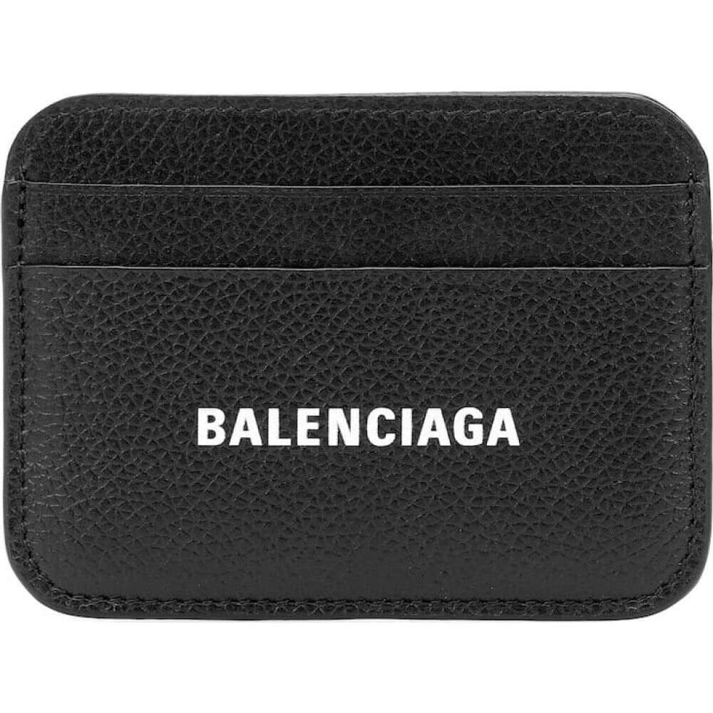 バレンシアガ Balenciaga レディース カードケース・名刺入れ カードホルダー【Leather card holder】Black/White