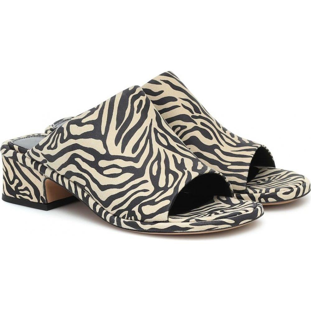 ドリス ヴァン ノッテン Dries Van Noten レディース サンダル・ミュール シューズ・靴【Zebra-print suede sandals】Ecru