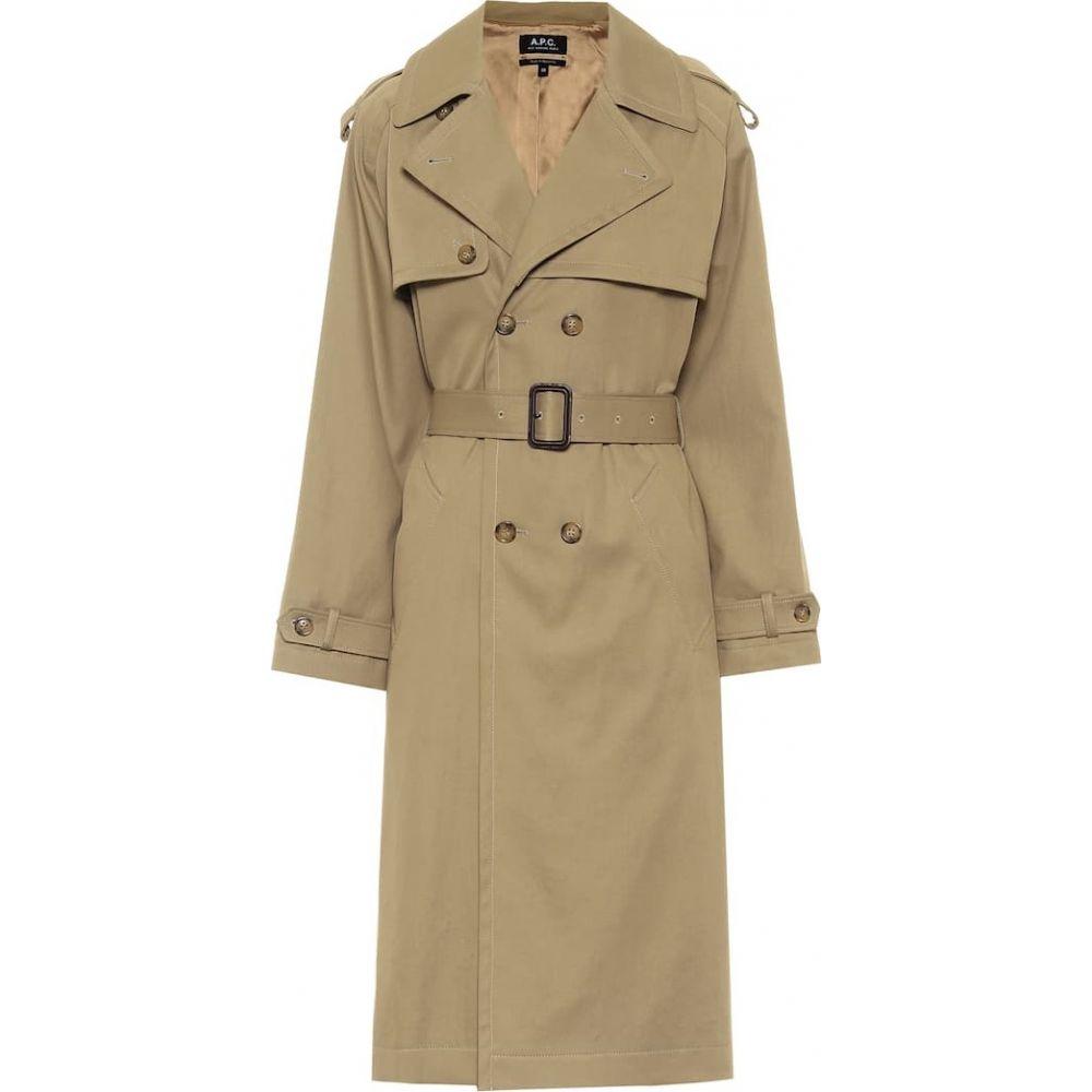アーペーセー A.P.C. レディース トレンチコート アウター【Simone cotton-gabardine trench coat】Beige
