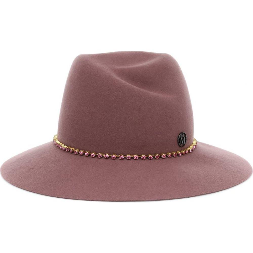 メゾンミッシェル Maison Michel レディース ハット フェドラ 帽子【Virginie embellished wool fedora】Canyon Rose