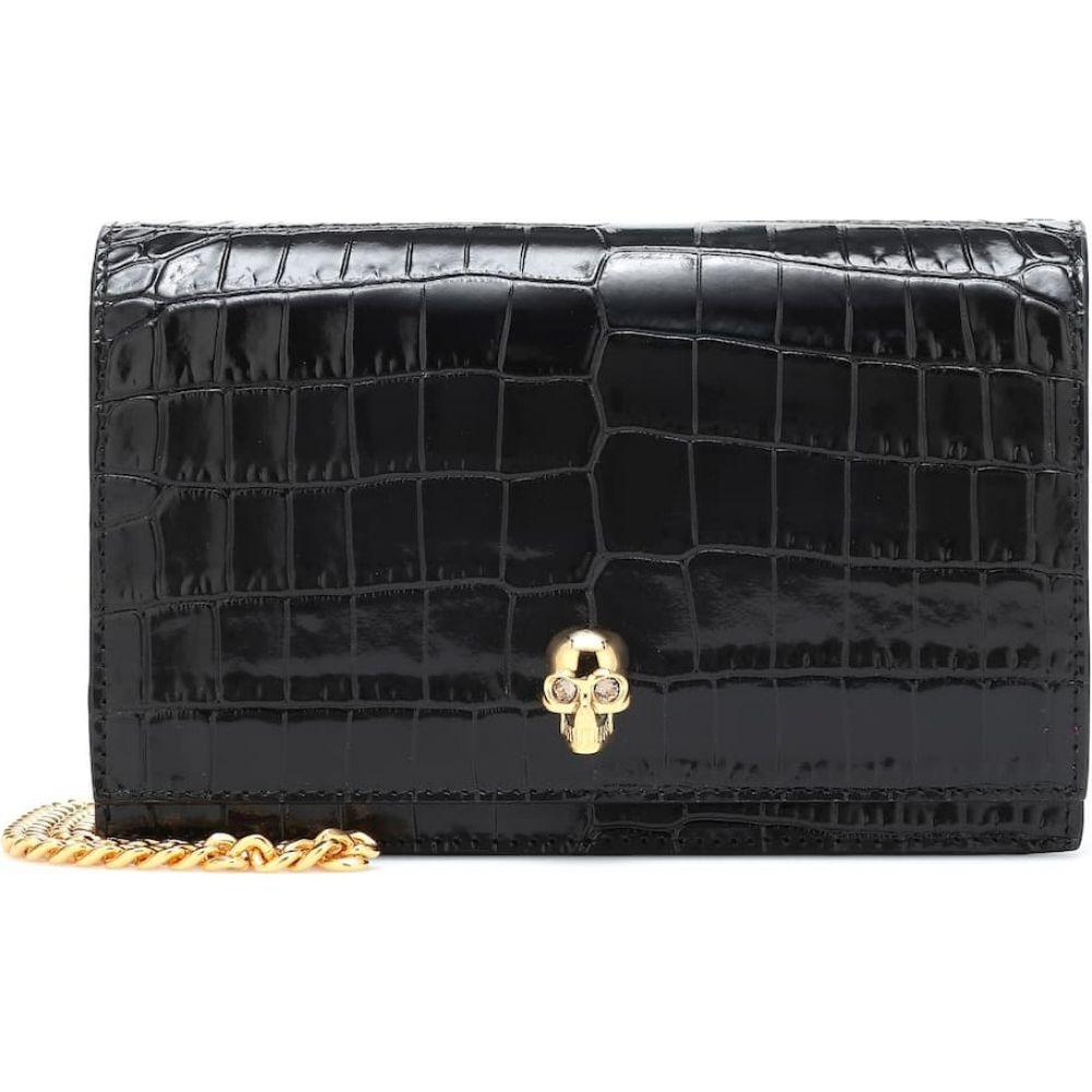 アレキサンダー マックイーン Alexander McQueen レディース ショルダーバッグ バッグ【Skull Small leather crossbody bag】Black