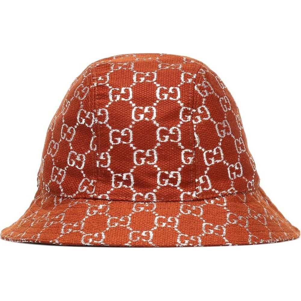グッチ Gucci レディース ハット バケットハット 帽子【GG lame wool-blend bucket hat】Brown