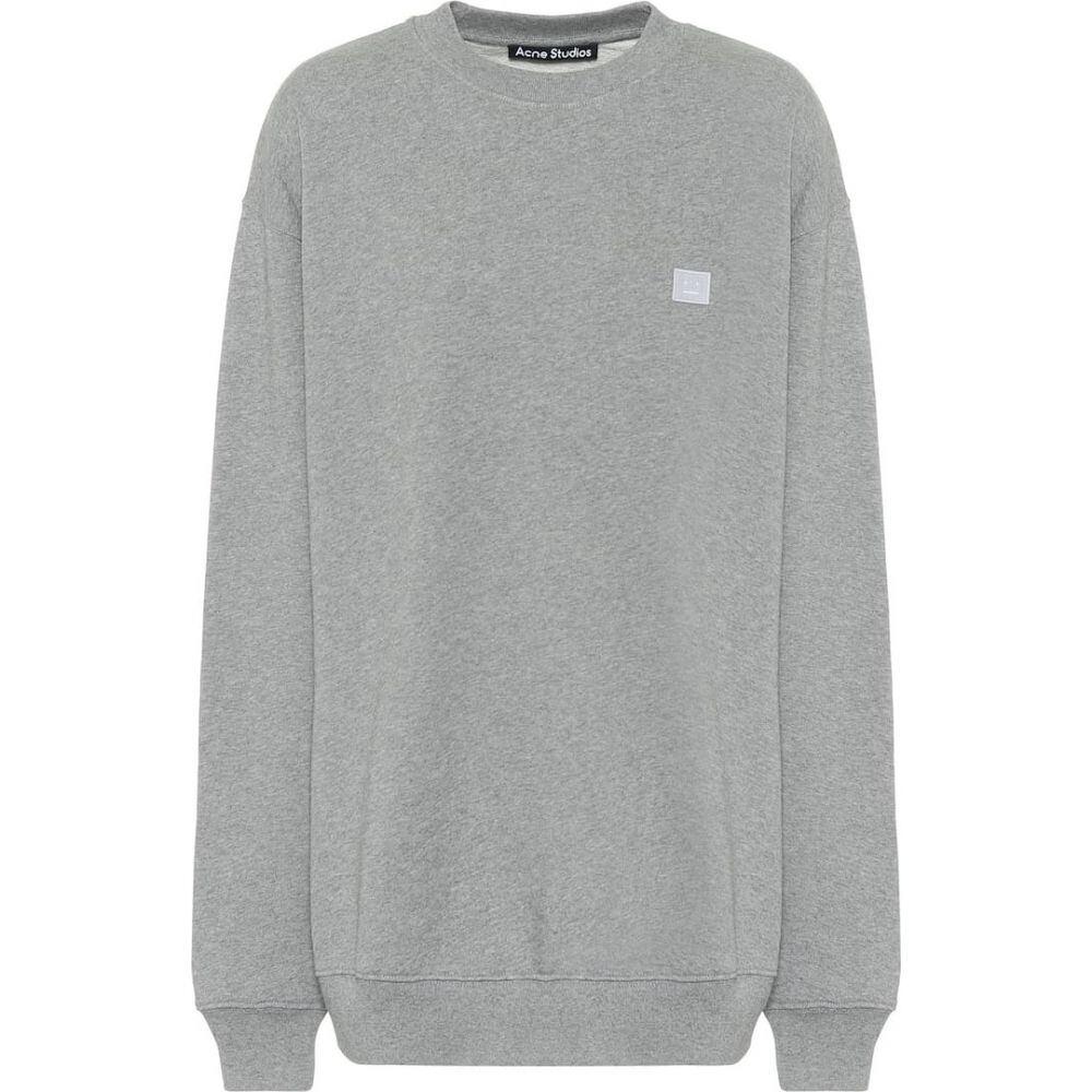 アクネ ストゥディオズ Acne Studios レディース スウェット・トレーナー トップス【Oversized cotton-jersey sweatshirt】Light Grey