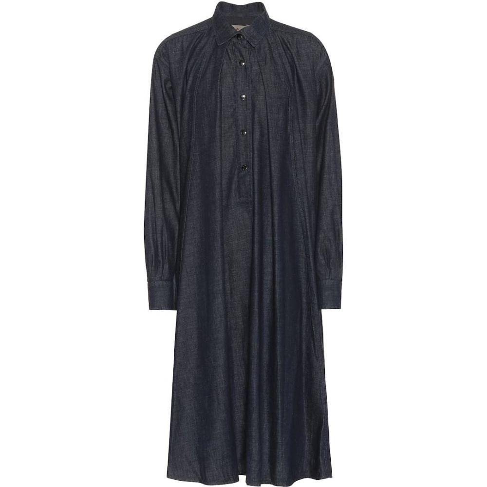 マルニ Marni レディース ワンピース デニム ワンピース・ドレス【Collared denim dress】