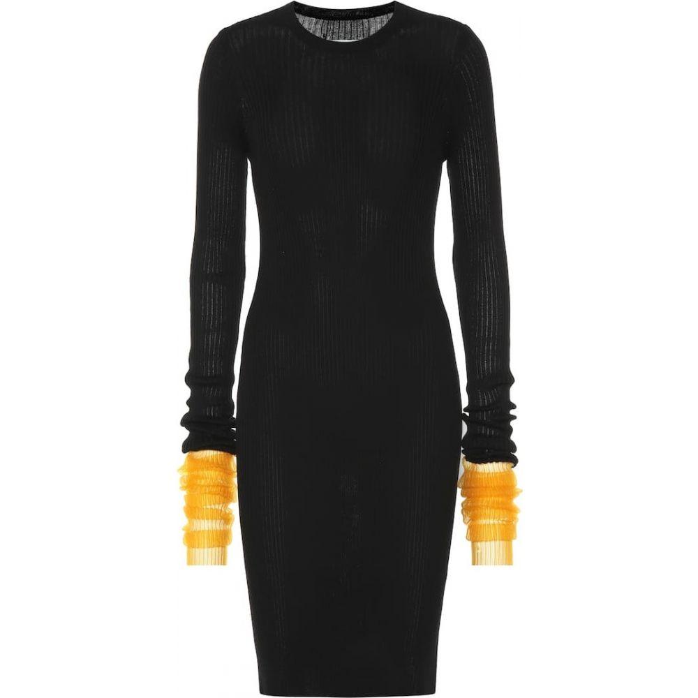 メゾン マルジェラ Maison Margiela レディース ワンピース ワンピース・ドレス【Ribbed cotton-blend dress】