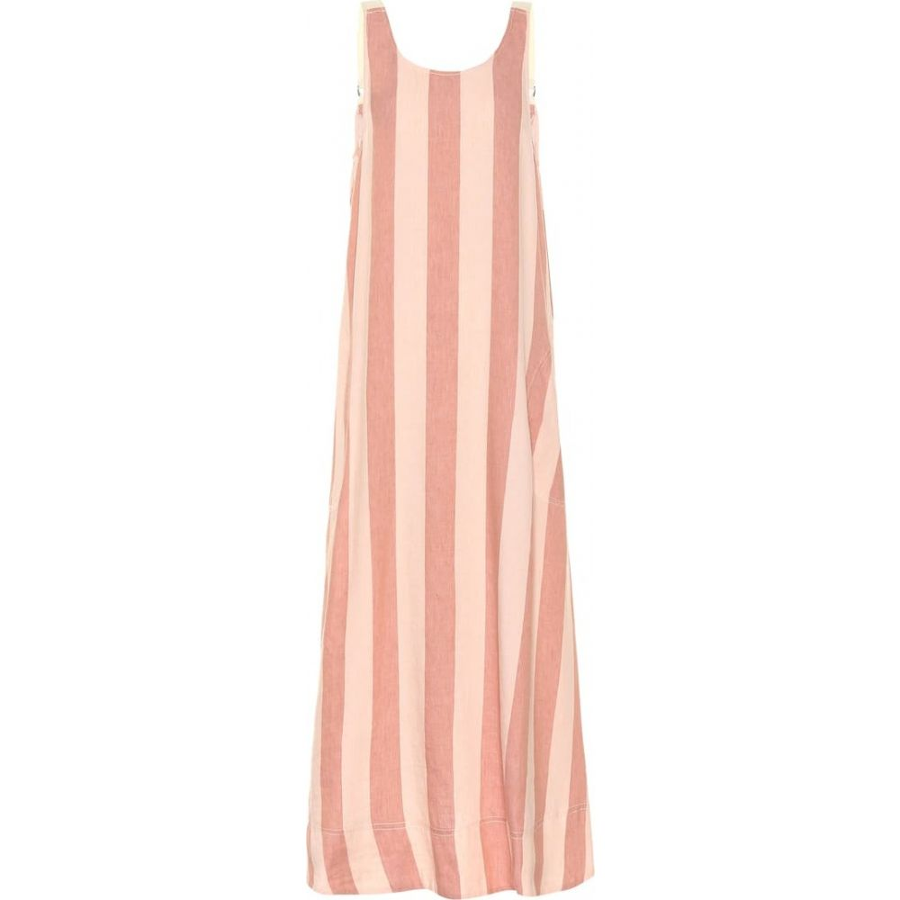 リーマシューズ Lee Mathews レディース ワンピース ワンピース・ドレス【Sufi striped linen and cotton dress】Rose