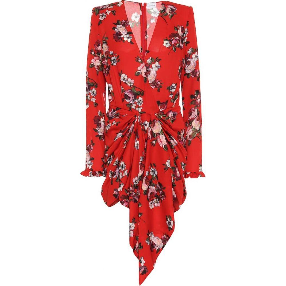 マグダ ブトリム Magda Butrym レディース ワンピース ワンピース・ドレス【Lesina floral silk-crepe minidress】Red