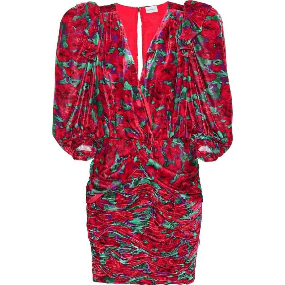 マグダ ブトリム Magda Butrym レディース ワンピース ワンピース・ドレス【Floral velvet minidress】Red