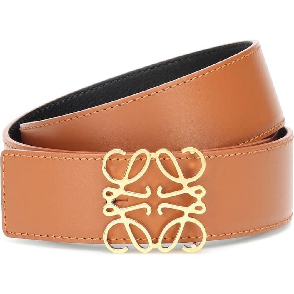 ロエベ Loewe レディース ベルト 【Reversible leather belt】tan/black/gold