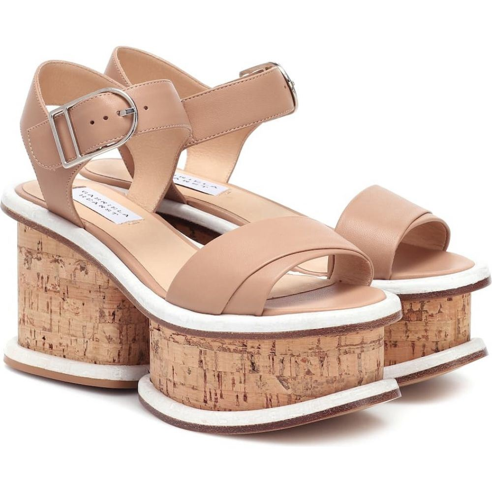 【超特価sale開催】 ガブリエラ ハースト Gabriela Hearst レディース サンダル・ミュール シューズ・靴【Harrigan leather and cork sandals】Dark Camel, ポストアンティーク 85afd417