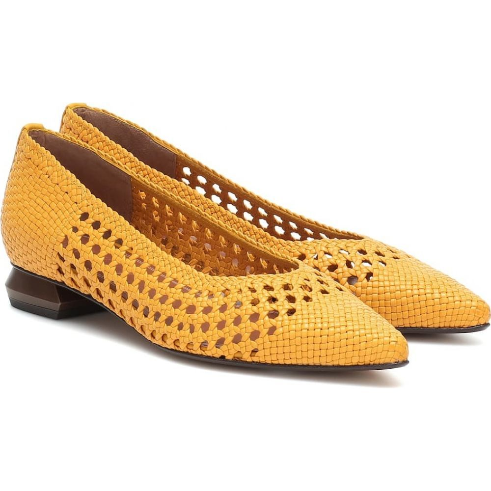 スリアーズ マルティネス Souliers Martinez レディース スリッポン・フラット シューズ・靴【Illetes 30 woven leather ballet flats】Pina