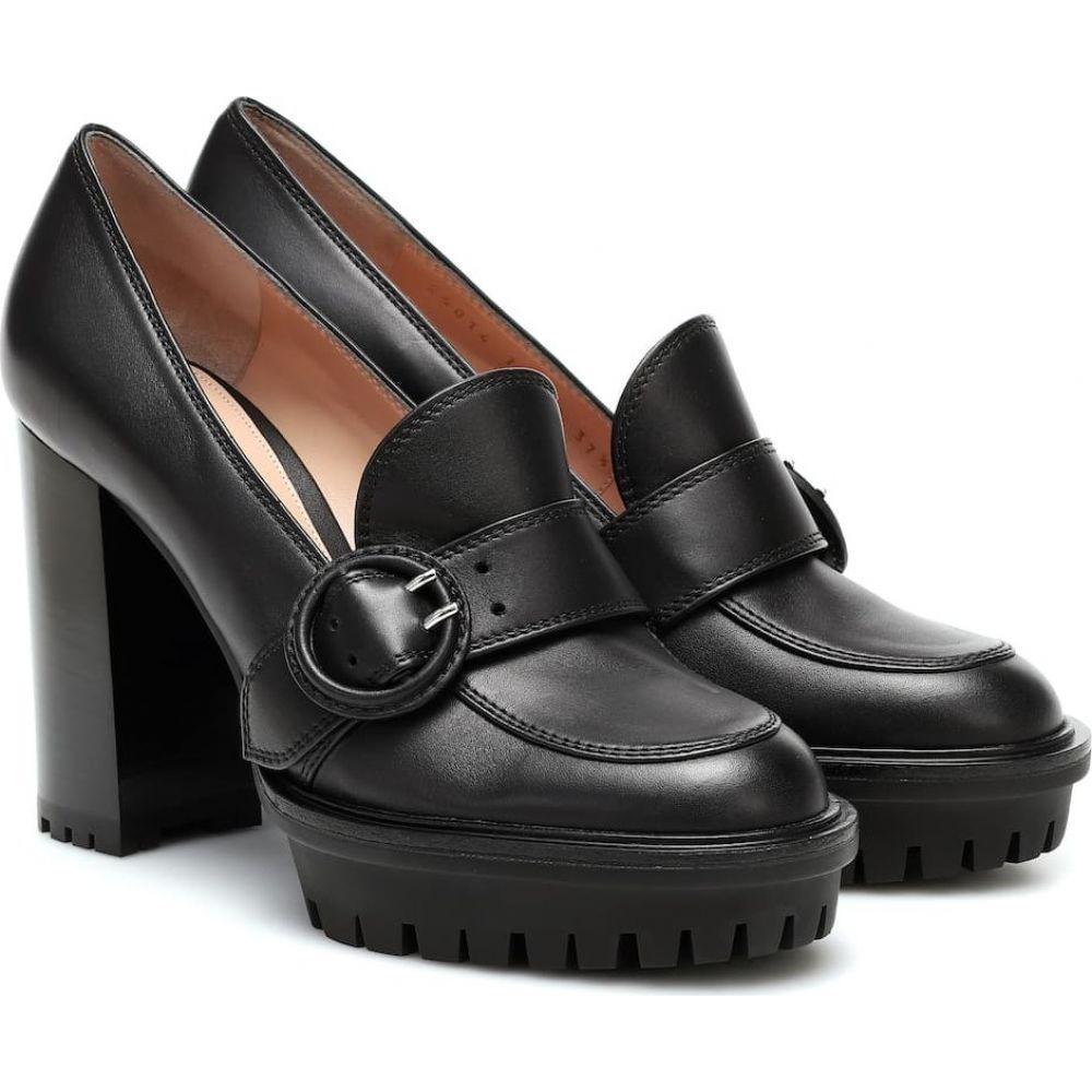 ジャンヴィト ロッシ Gianvito Rossi レディース パンプス シューズ・靴【Harriet leather loafer pumps】Black
