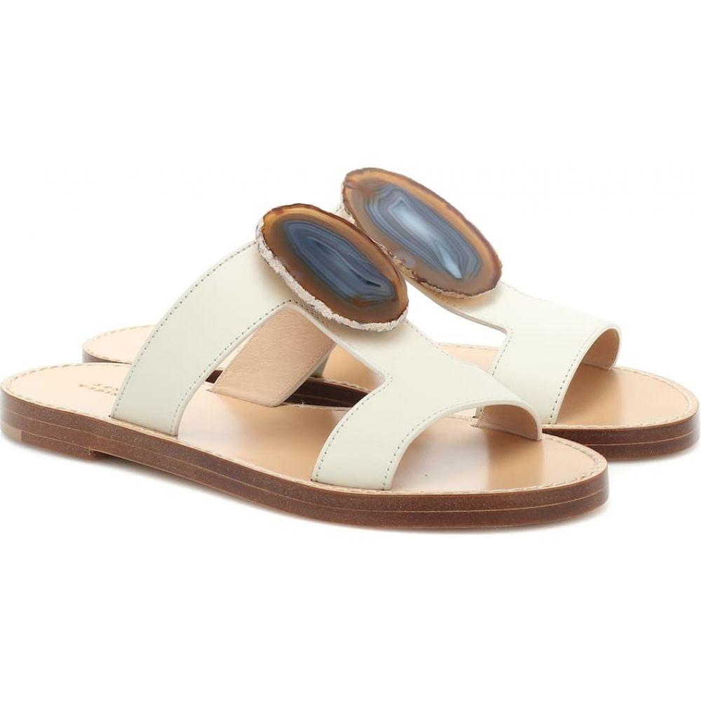 ガブリエラ ハースト Gabriela Hearst レディース サンダル・ミュール シューズ・靴【Hades Agate leather sandals】Ivory