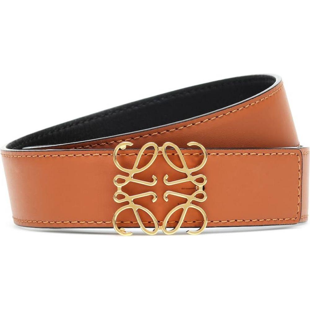 ロエベ Loewe レディース ベルト 【Anagram reversible leather belt】Tan/Black/Gold