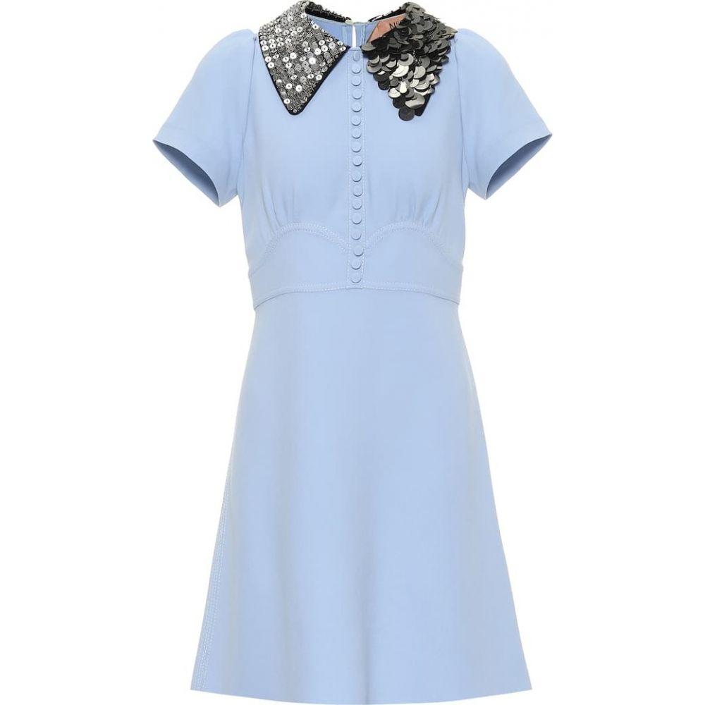 ヌメロ ヴェントゥーノ N21 レディース ワンピース ワンピース・ドレス【Embellished-collar dress】blue