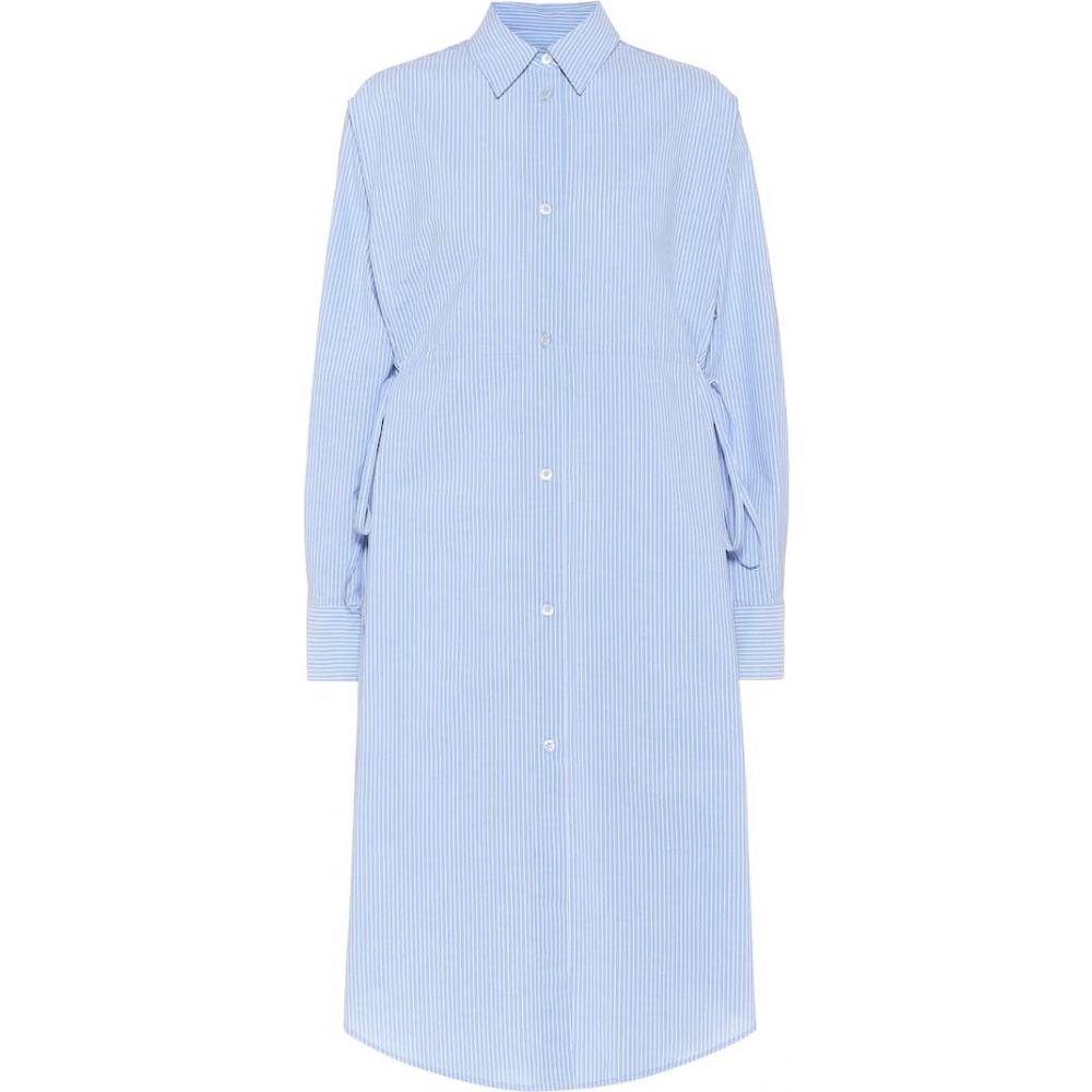 メゾン マルジェラ MM6 Maison Margiela レディース ワンピース シャツワンピース ワンピース・ドレス【Striped cotton shirt dress】blue