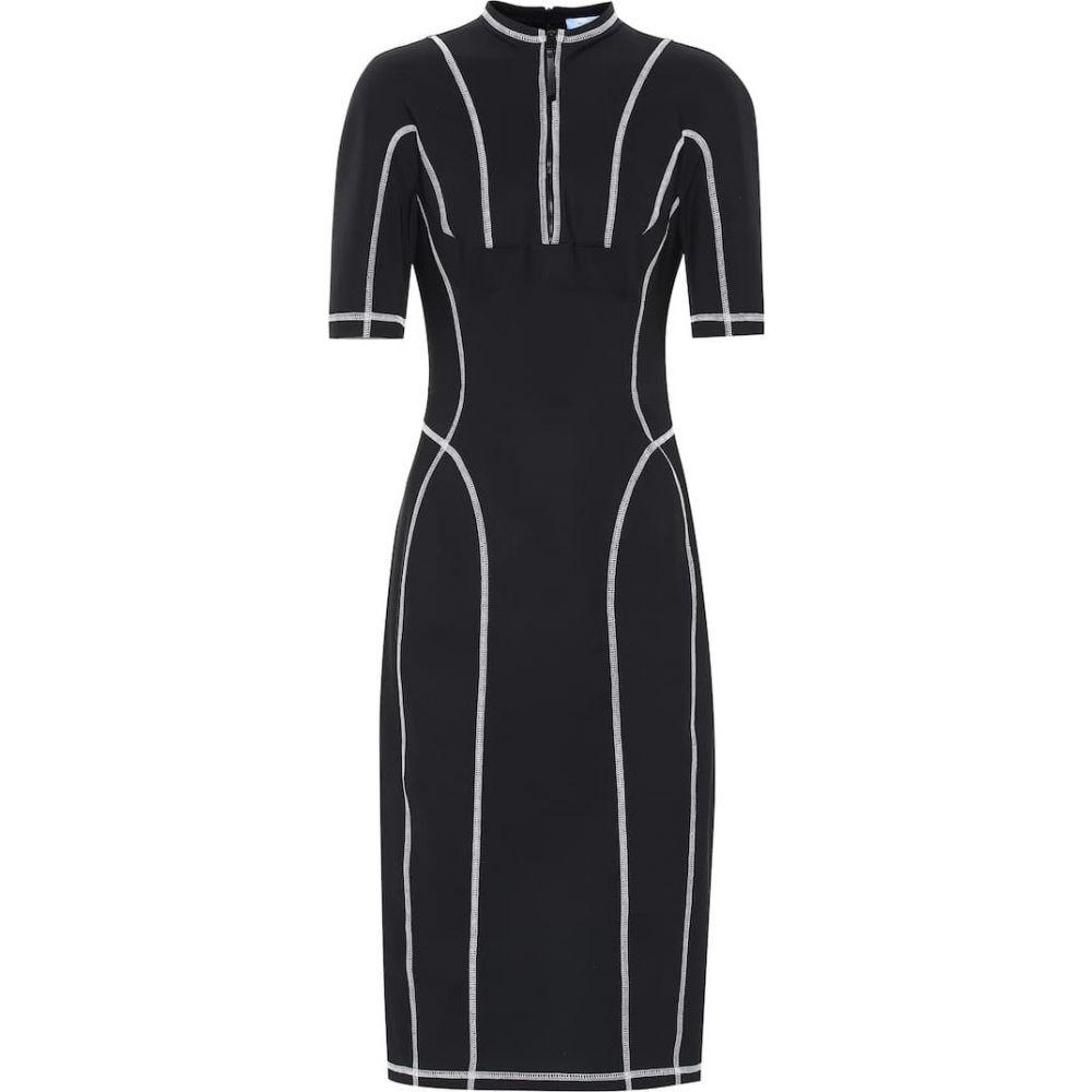 ミュグレー Mugler レディース ワンピース ミドル丈 ワンピース・ドレス【Scuba midi dress】Black