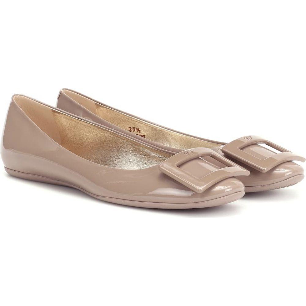 ロジェ ヴィヴィエ Roger Vivier レディース スリッポン・フラット シューズ・靴【Gommette patent leather ballet flats】Daino