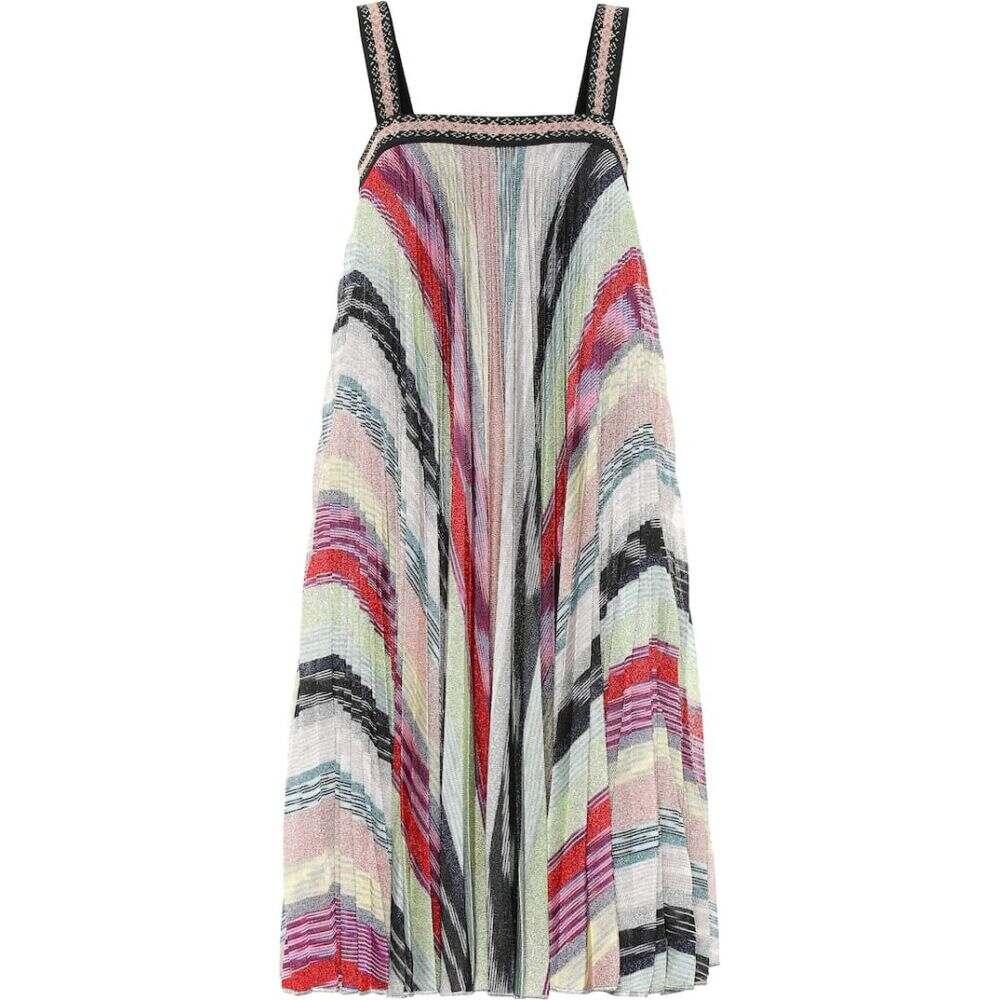 ミッソーニ Missoni レディース ワンピース ワンピース・ドレス【Striped metallic knit dress】