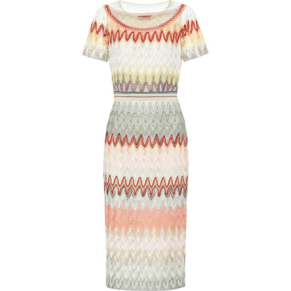 ミッソーニ Missoni レディース ワンピース ミドル丈 ワンピース・ドレス【Striped knit midi dress】