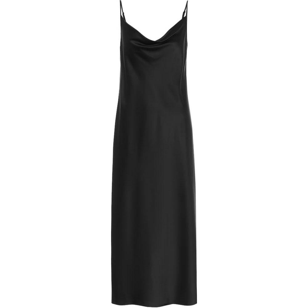 マックスマーラ Max Mara レディース パーティードレス スリップドレス ワンピース・ドレス【Leisure Teoria satin slip dress】Nero