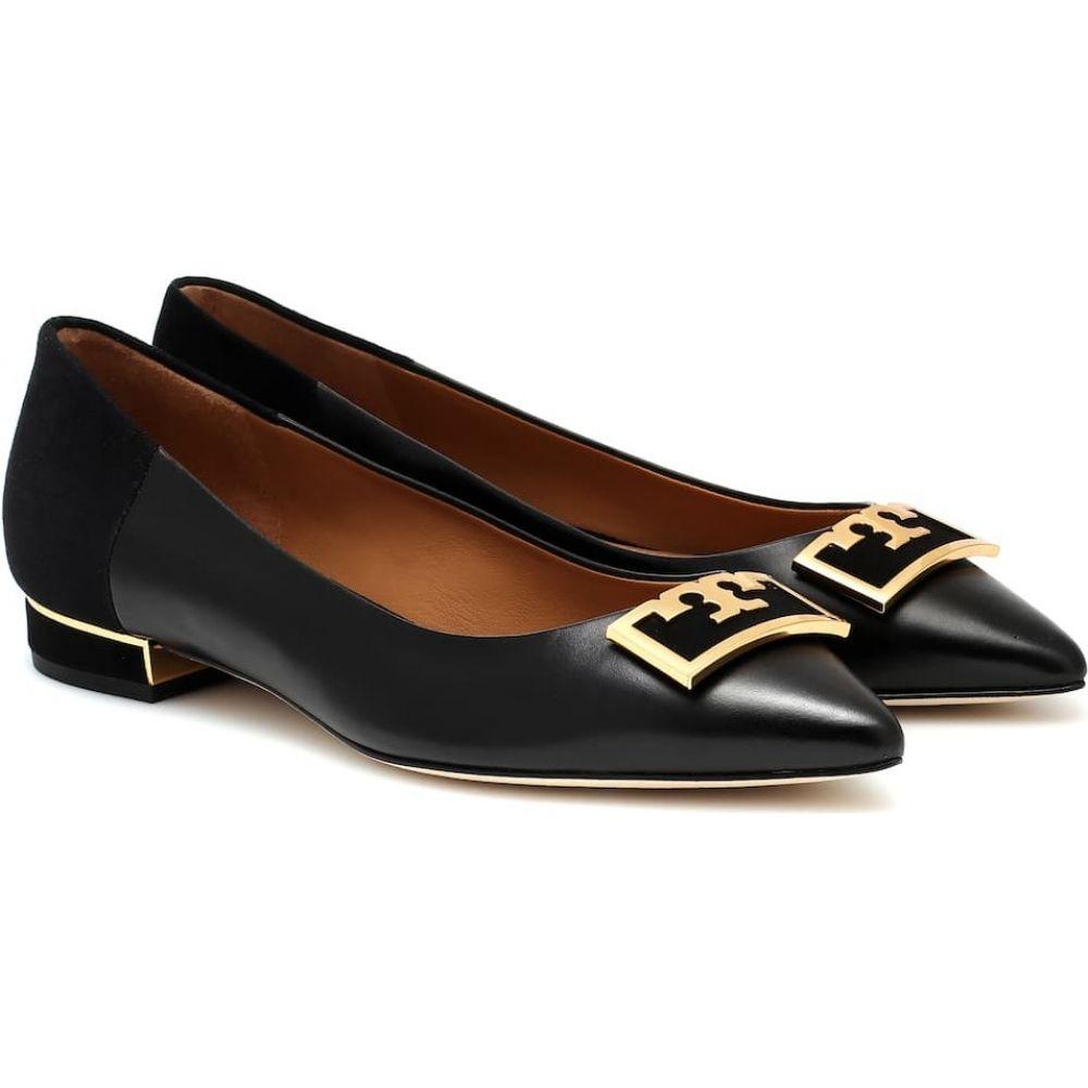 トリー バーチ Tory Burch レディース スリッポン・フラット シューズ・靴【Gigi 20 leather flats】Perfect Black/Perfect Black