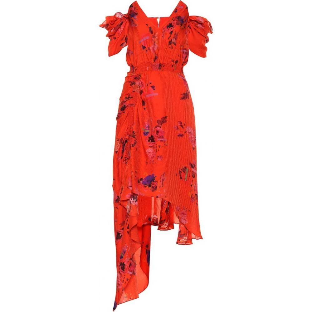 プリーン バイ ソーントン ブルガッジ Preen by Thornton Bregazzi レディース ワンピース ワンピース・ドレス【Dana floral silk dress】Red Posy