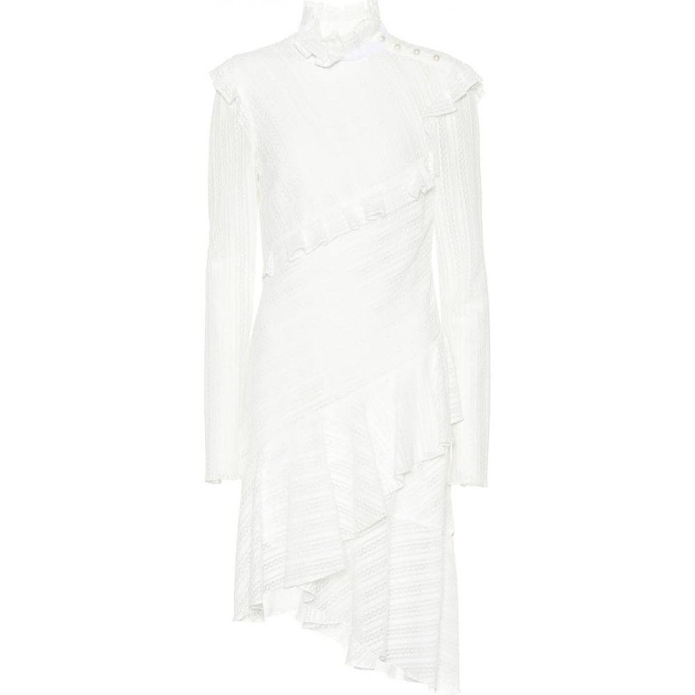 フィロソフィ ディ ロレンツォ セラフィニ Philosophy Di Lorenzo Serafini レディース ワンピース ワンピース・ドレス【Cotton-blend long-sleeve dress】White
