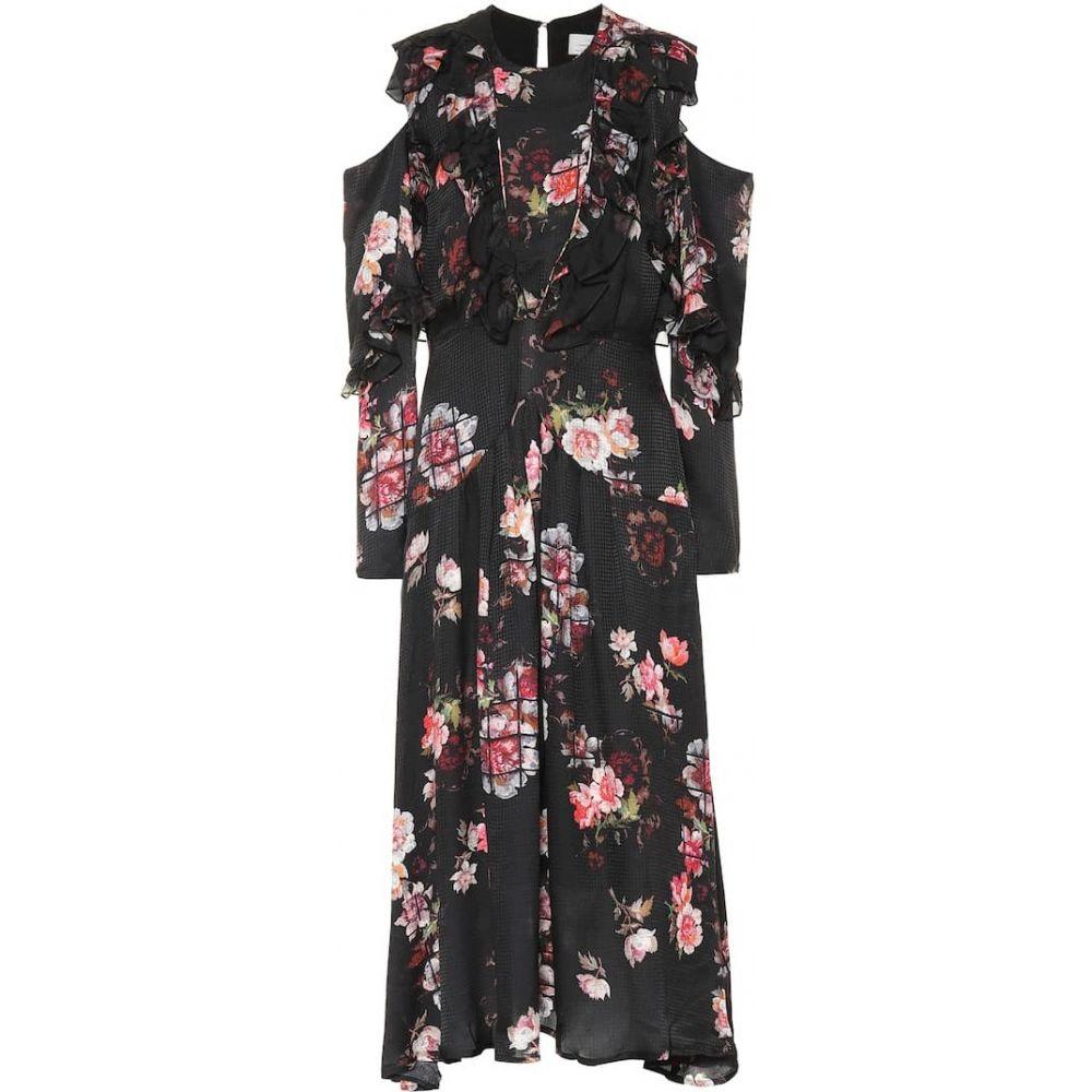 プリーン バイ ソーントン ブルガッジ Preen by Thornton Bregazzi レディース ワンピース ワンピース・ドレス【Penny floral silk dress】grid floral