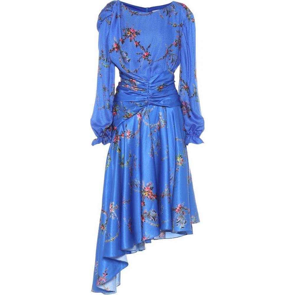 プリーン バイ ソーントン ブルガッジ Preen by Thornton Bregazzi レディース ワンピース ワンピース・ドレス【Diana floral satin dress】Blue Garland
