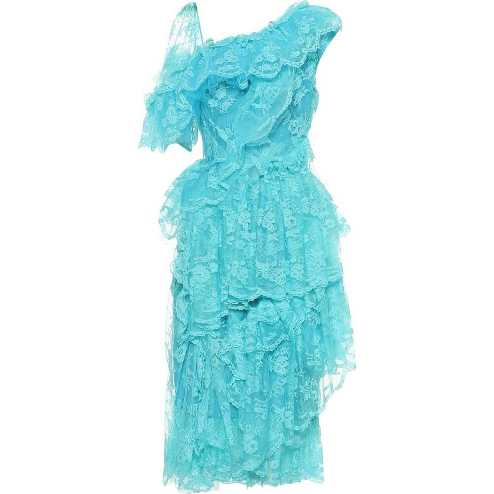 プリーン バイ ソーントン ブルガッジ Preen by Thornton Bregazzi レディース ワンピース ワンピース・ドレス【Cecilia lace dress】Turquoise