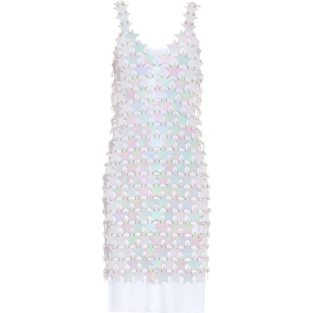 パコラバンヌ Paco Rabanne レディース ワンピース ワンピース・ドレス【Star minidress】White Irridesce