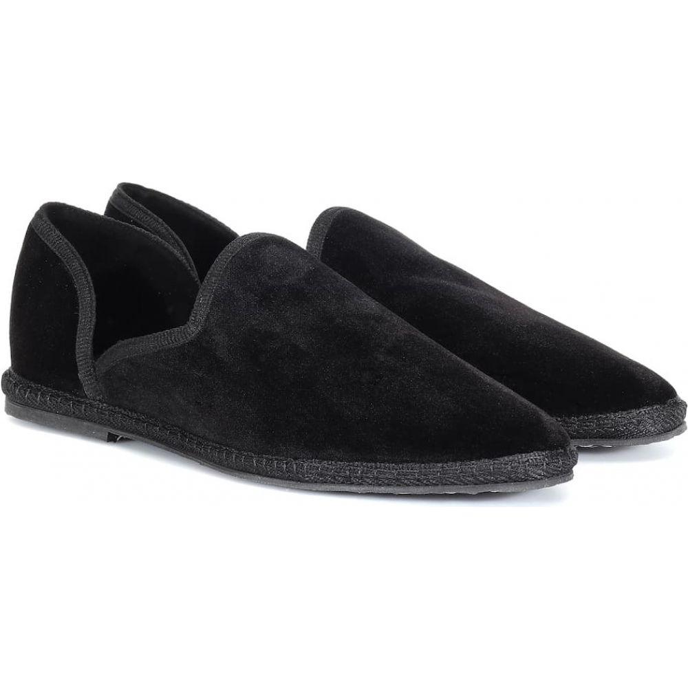 ザ ロウ The Row レディース ローファー・オックスフォード シューズ・靴【Friulane velvet loafers】Black