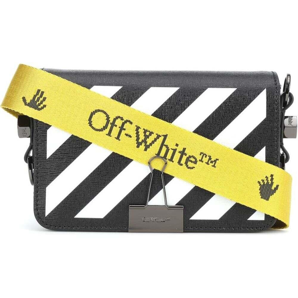 オフホワイト Off-White レディース ショルダーバッグ バッグ【Diagonal Mini Flap crossbody bag】Black White