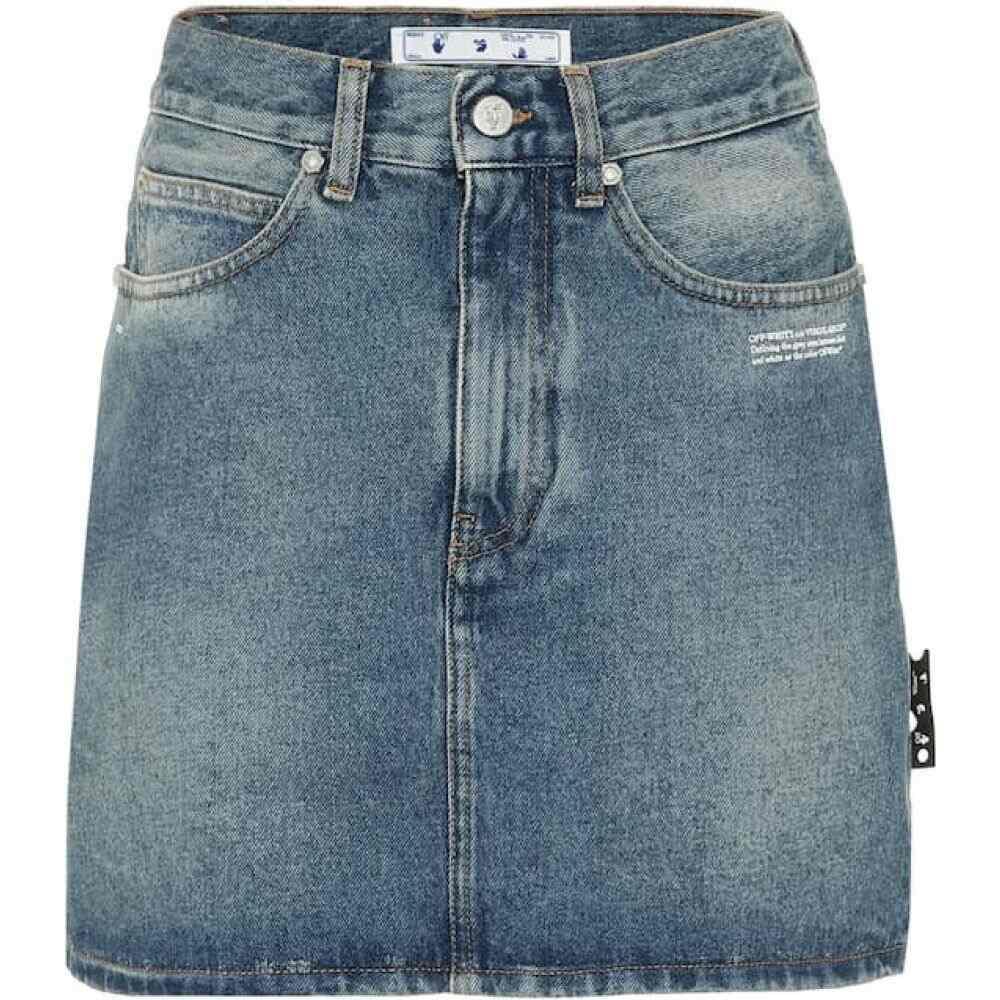 オフホワイト Off-White レディース ミニスカート スカート【Denim straight-fit miniskirt】Light Blue No Color