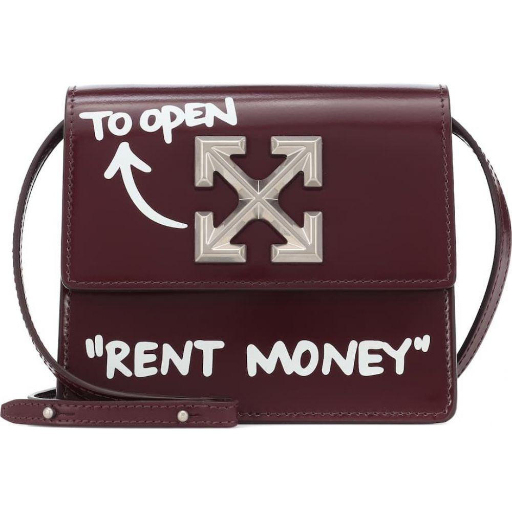 オフホワイト Off-White レディース ショルダーバッグ バッグ【Jitney 0.7 leather crossbody bag】Burgundy White