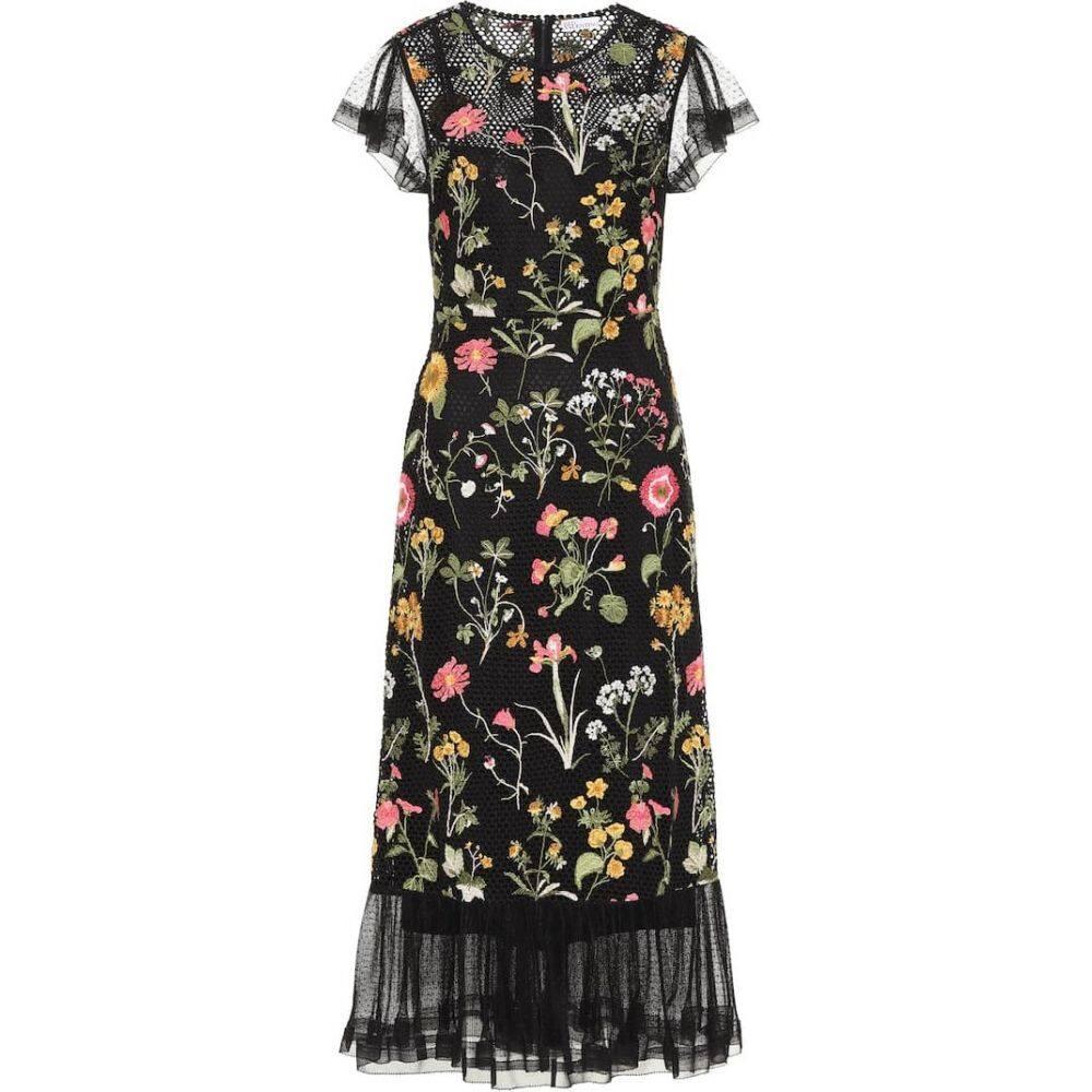 レッド ヴァレンティノ REDValentino レディース ワンピース ワンピース・ドレス【Floral cotton dress】Nero