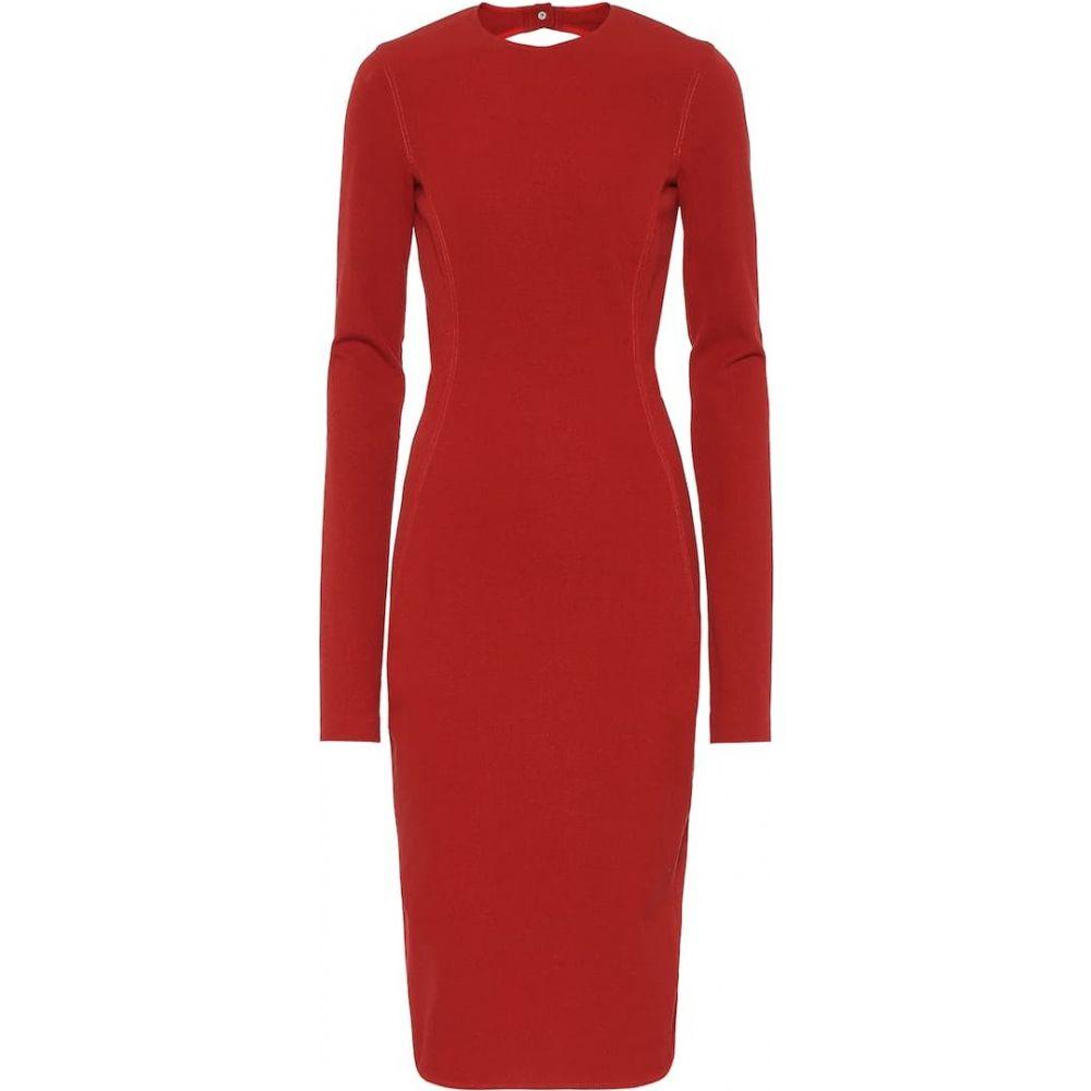 リック オウエンス Rick Owens レディース ワンピース ワンピース ドレス Sade cotton-blend dress Cardinal Red お配り物 安心と信頼のショッピング 売れ行き好調
