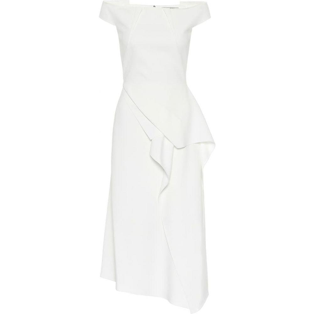 ローラン ムレ Roland Mouret レディース ワンピース ミドル丈 ワンピース・ドレス【Arch off-the-shoulder midi dress】White