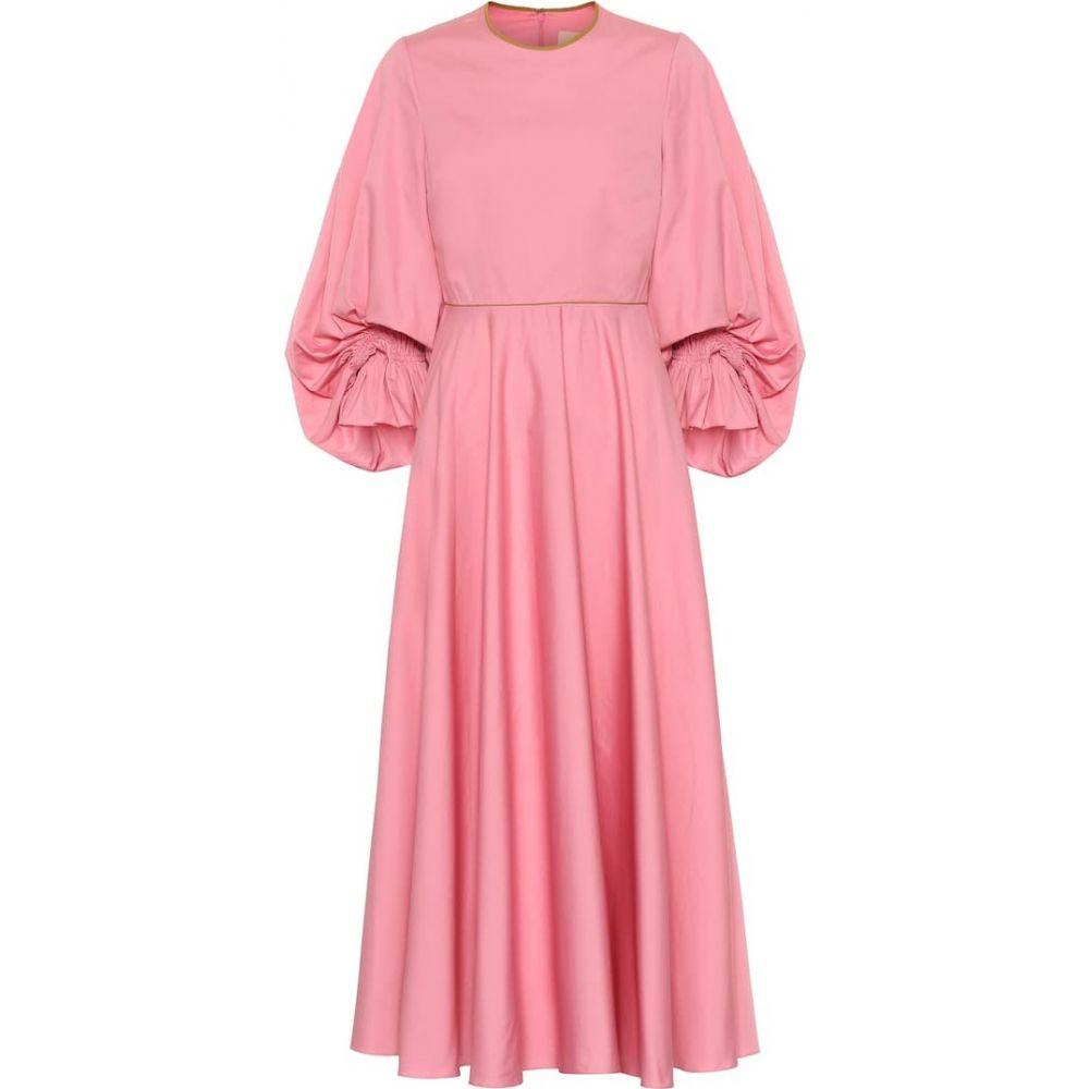 ロクサンダ Roksanda レディース ワンピース ワンピース・ドレス【Fife cotton-poplin dress】Dark Flamingo