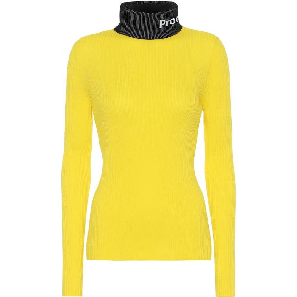 プロエンザ スクーラー Proenza Schouler レディース ニット・セーター トップス【PSWL cotton turtleneck sweater】Yellow Combo