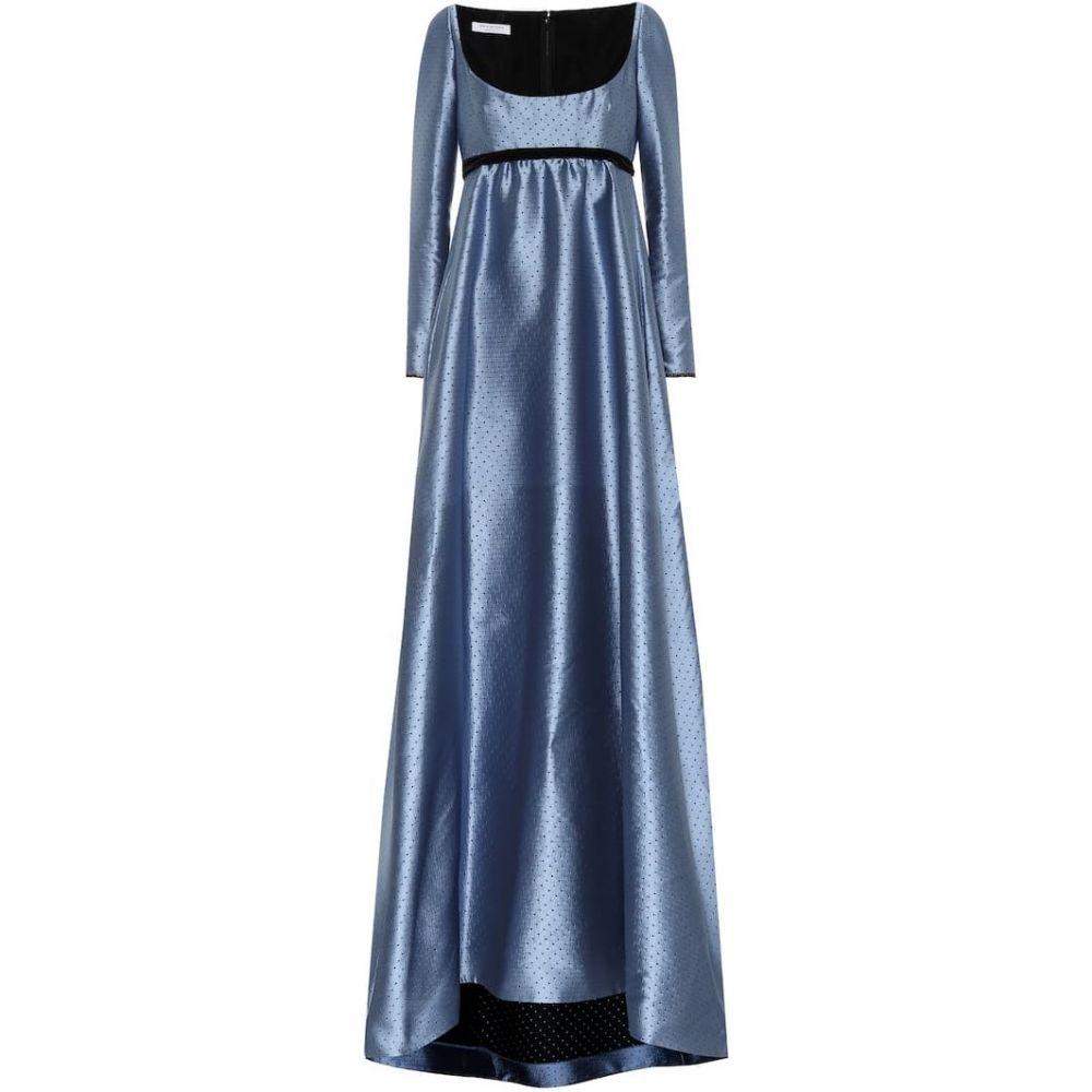 フィロソフィ ディ ロレンツォ セラフィニ Philosophy Di Lorenzo Serafini レディース パーティードレス ワンピース・ドレス【Dotted jacquard gown】Fantasy Print Light Blue