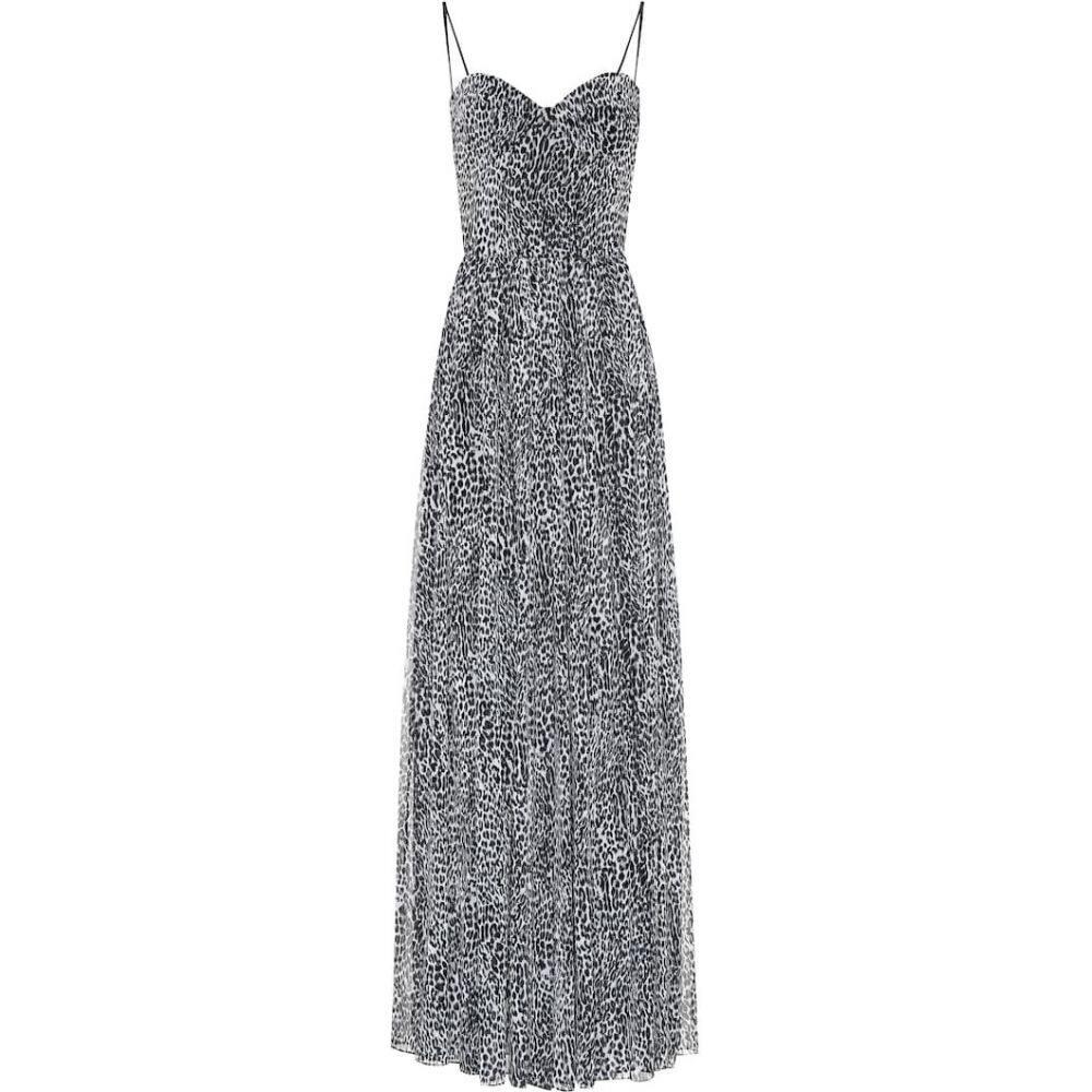 ロサリオ RASARIO レディース ワンピース ワンピース・ドレス【Leopard-print crepe dress】Grey