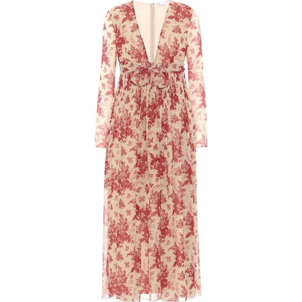 レッド ヴァレンティノ REDValentino レディース ワンピース ワンピース・ドレス【Floral crepe dress】Avorio