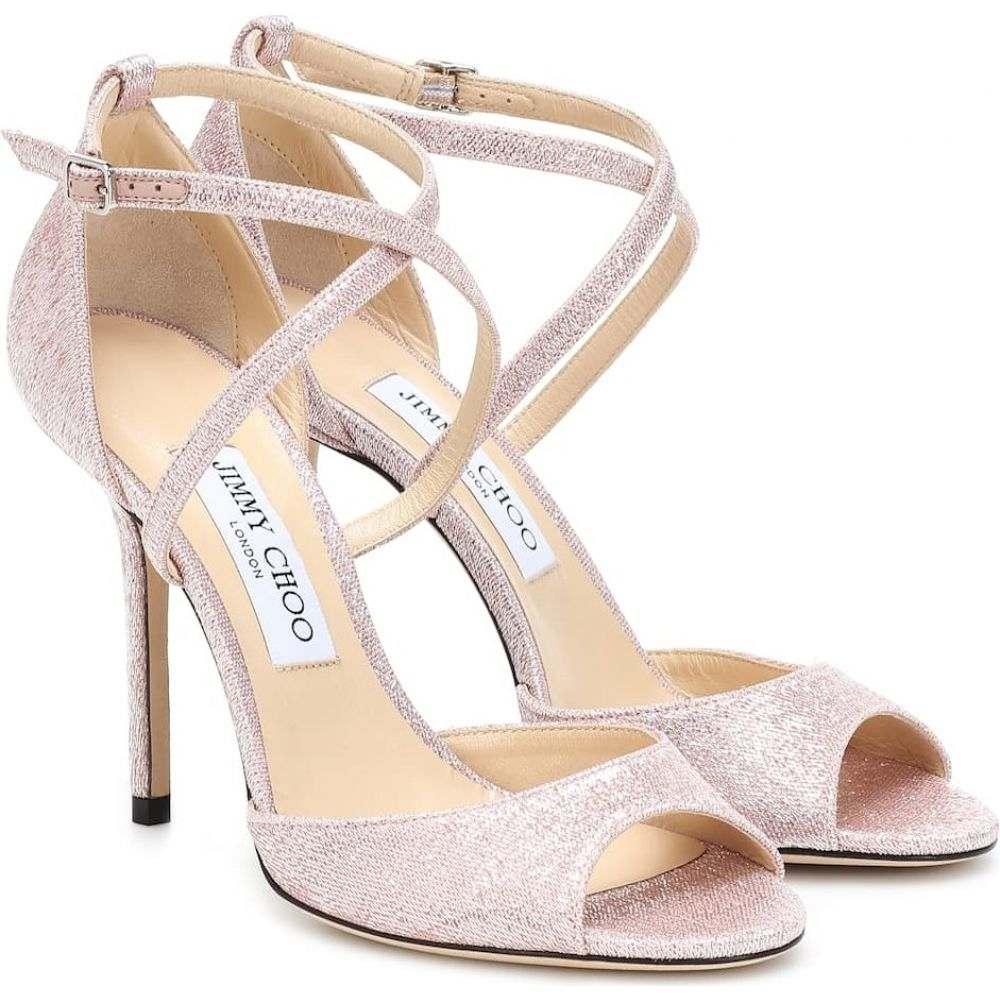 ジミー チュウ Jimmy Choo レディース サンダル・ミュール シューズ・靴【Emsy 100 lame sandals】Ballet Pink