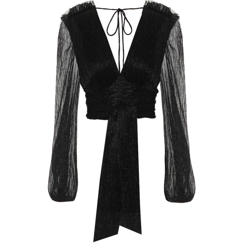 レベッカ ヴァランス Rebecca Vallance レディース ブラウス・シャツ トップス【Rivero wrap blouse】Black