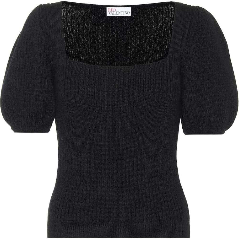 レッド ヴァレンティノ REDValentino レディース ニット・セーター トップス【Ribbed-knit wool sweater】Nero